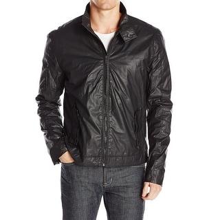 Calvin Klein NEW Black Mens Size Large L Motorcycle Track Jacket