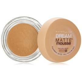 Maybelline Dream Matte Mousse Foundation, Natural Beige [2.5], 0.64 oz