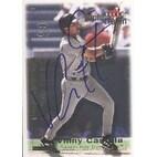 Vinny Castilla Tampa Bay Devil Rays 2001 Fleer Triple Crown Autographed Card  Nice Card  This item