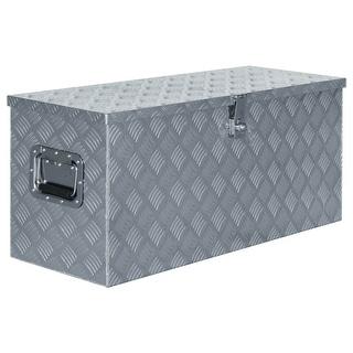 "vidaXL Aluminum Box 35.6""x13.8""x15.7"" Silver"