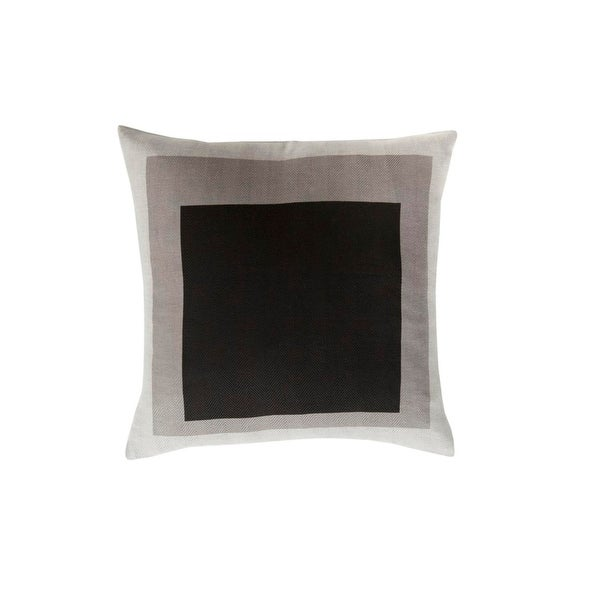 """22"""" Black and Gray Modern Color block Designed Square Throw Pillow"""