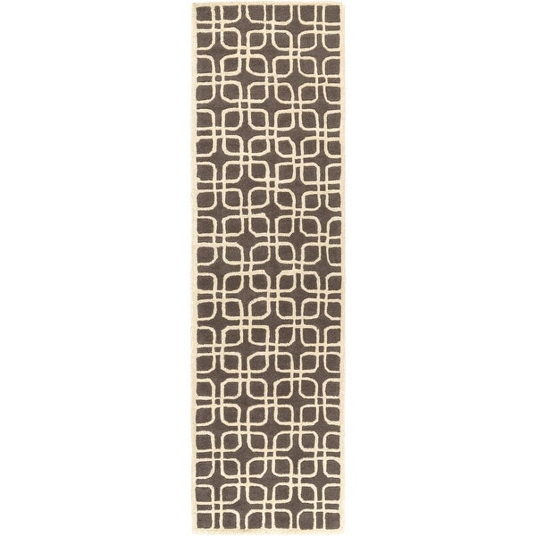 Hand-Tufted Brigg Crosshatched Wool Area Rug