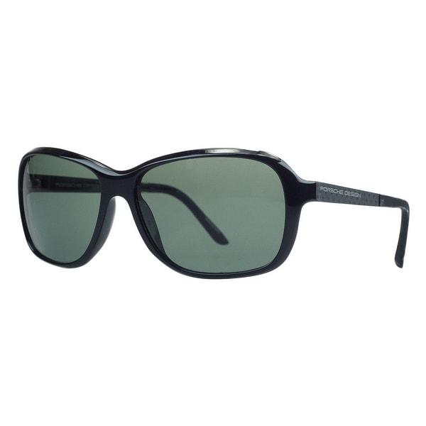 Porsche P8558-A Black Rectangular Sunglasses - 59-15-130