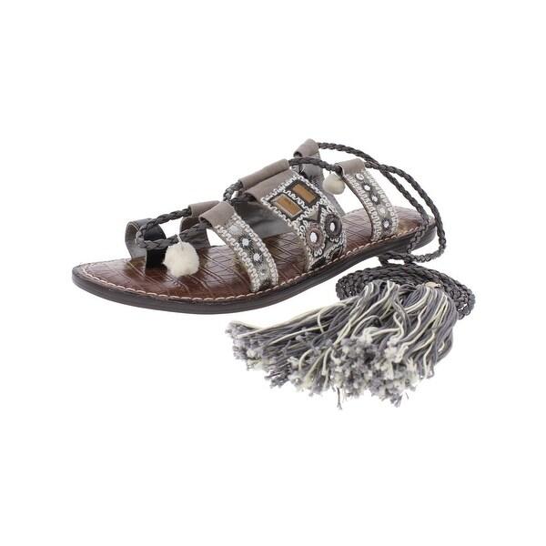 Sam Edelman Womens Gretchen Flat Sandals Canvas Leather