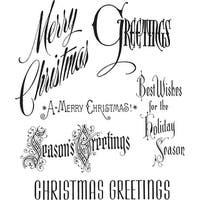 """Tim Holtz Cling Stamps 7""""X8.5""""-Christmastime"""