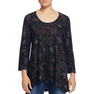Nally & Millie Womens Casual Top Scoopneck Hi-Low