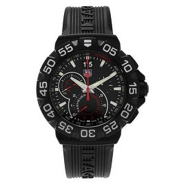 Tag Heuer Men's 'Formula 1 CAH1012.FT6026 Black Dial Chronograph Rubber Strap Watch