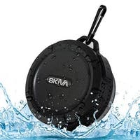 Skiva AudioFlow Splashproof Water-resistant Loud (5W) Bluetooth Wireless Speaker for iPhone, Samsung, HTC