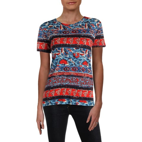 Lucky Brand Womens T-Shirt Printed Crew Neck