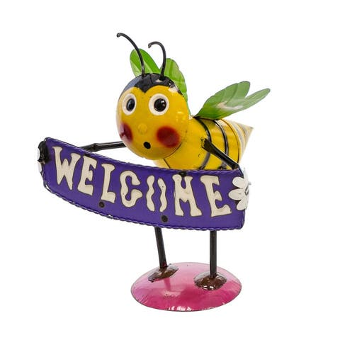 """""""Welcome"""" Bee Statue"""
