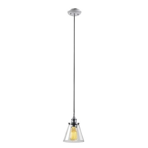 "Globe Electric 65381 Single Light 6.5"" Wide Pendant with Clear Glass Shade"