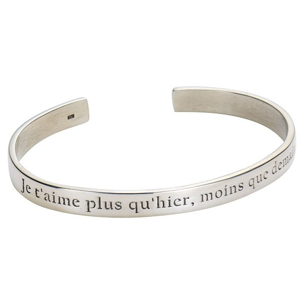 Women X27 S I Love You More Than Yesterday In French Bracelet