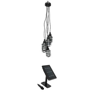 Solar Rechargeable LED Edison Style Drop Lights Outdoor Chandelier