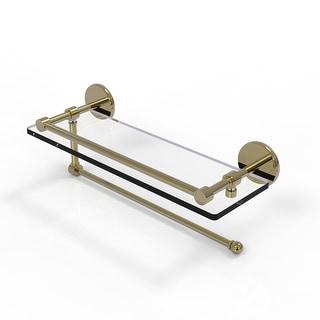 Allied Brass Prestige Skyline Collection Paper Towel Holder with Gallery Glass Shelf