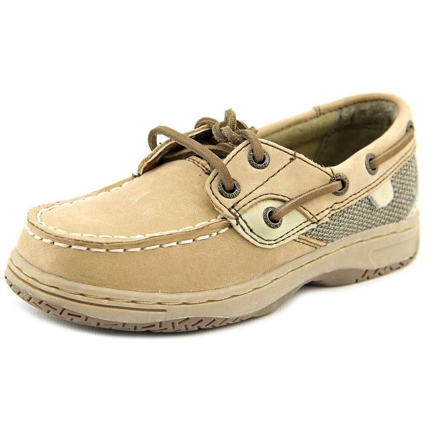 Sperry Top Sider Bluefish LC Toddler  Moc Toe Leather Beige Boat Shoe