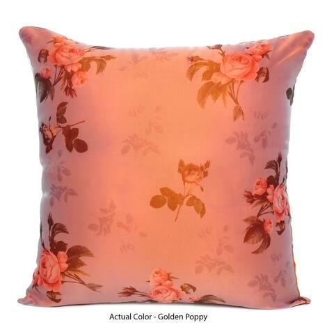 Oussum Home Decor Floral Pillowcase Satin Oraganza Decorative Throw Pillows Covers Cushions Set Of 5 Printed Cushion Sets