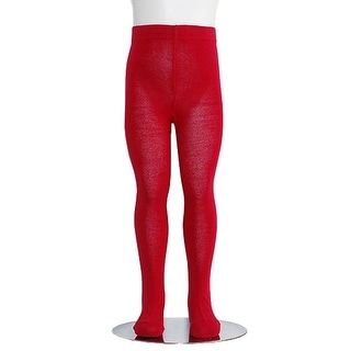 Red Piccolo Heavyweight Opaque Toddler Little Girls Tights 2T-16