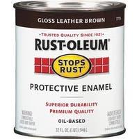 Rust-Oleum Leather Brown Enamel 7775-502 Unit: QT