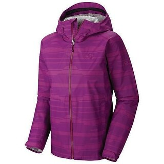 Mountain Hardwear Womens Plasmic Geo Rain Jacket - Waterproof DryQ Evap (More options available)