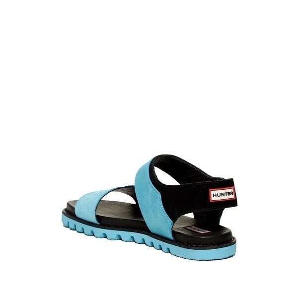 Hunter Womens Original Leather Sandal Open Toe Casual Sport Sandals