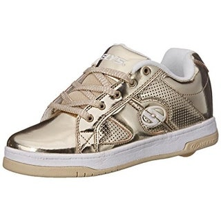Heelys Girls Split Chrome Skate Shoes Perforated Shiny - 8m