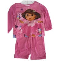 Nickelodeon Baby Girls Sky Blue Dora The Explorer Print 2 Pc Pajama Set 12-24M