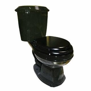Black Round 2- Piece Toilet Dual Flush Seat Inc
