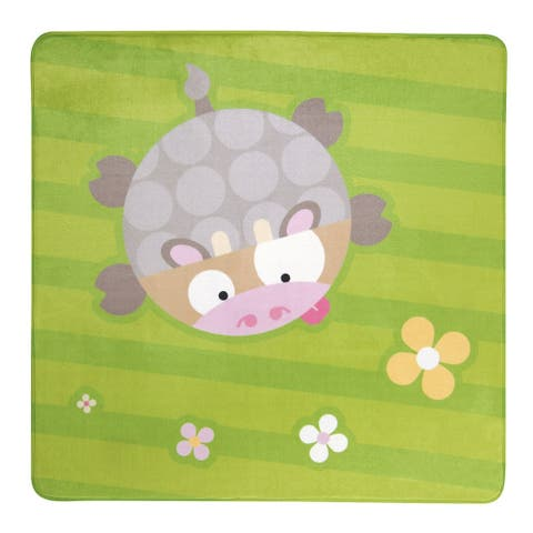 """Feather Cow Rug - 39.25"""" x 39.25"""" Square"""