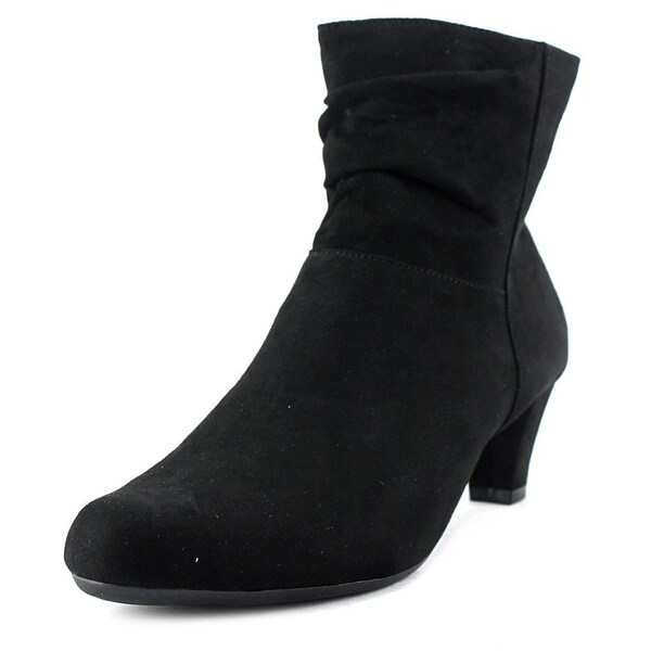 Aerosoles Shore Fit Women W Round Toe Synthetic Black Ankle Boot