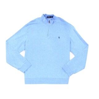 Polo Ralph Lauren NEW Blue Mens Size XL Quarter Zip Pullover Sweater