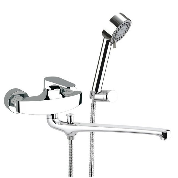 Nameeks L49US Remer Wall Mounted Tub Filler with Hand Shower and Wall Bracket - Chrome