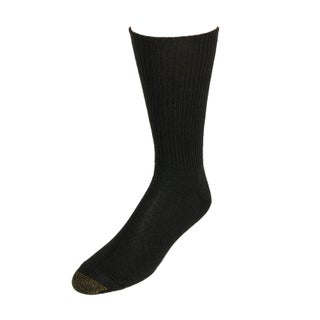 Gold Toe Men's Fluffies Soft Casual Socks, Shoe Size 6 - 12 1/2 (Option: Brown)