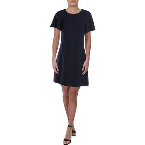 JB by Julie Brown Womens Riva Wear to Work Dress Crew Neck Short Sleeve