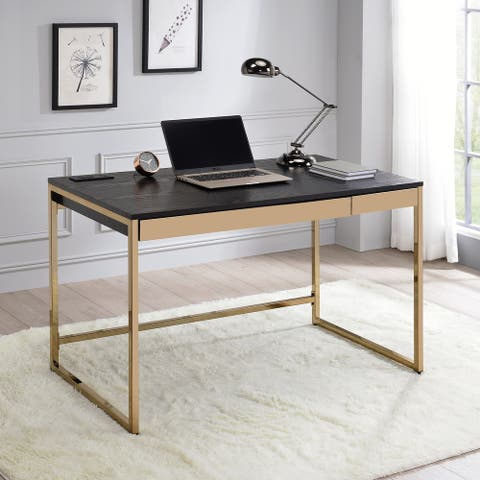 Furniture of America Arthur Modern Copper Tone 2-drawer Desk