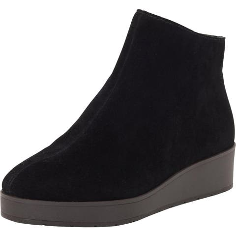 Lucky Brand Womens Karmeya Platform Boots Suede Wedge