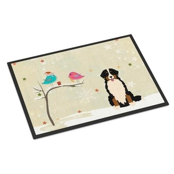 Carolines Treasures BB2508JMAT Christmas Presents Between Friends Bernese Mountain Dog Indoor or Outdoor Mat 24 x 0.25 x 36 in.