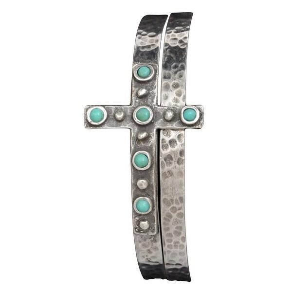 Angel Ranch Jewelry Womens Bracelet BAngel Cross Silver LB1131S