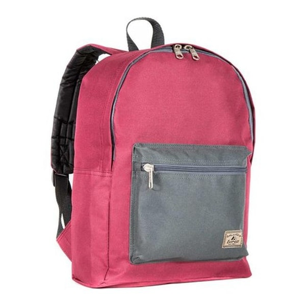 f96c8c929a8b Shop Everest Basic Color Block Backpack (Set of 2) Burgundy Charcoal ...