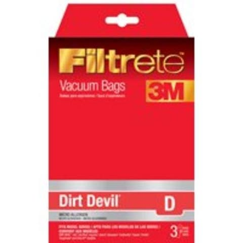 Filtrete 65701A-6 Type D Vacuum Cleaner Bag