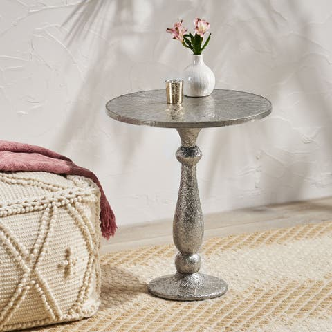 Desmet Iron Accent Table by Christopher Knight Home