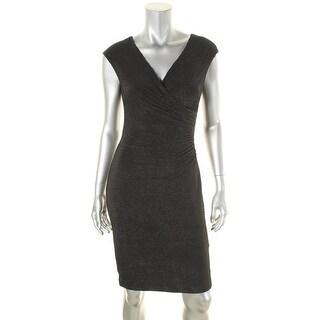 Lauren Ralph Lauren Womens Party Dress Metallic Ruched