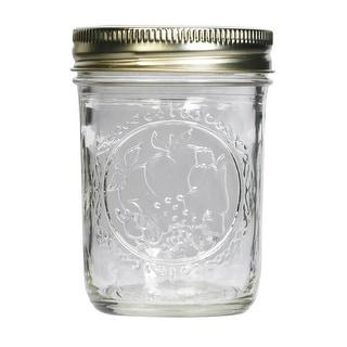 Ball 60000 Regular Mouth Mason Jars, Half Pint (8 Oz), Box Of 12