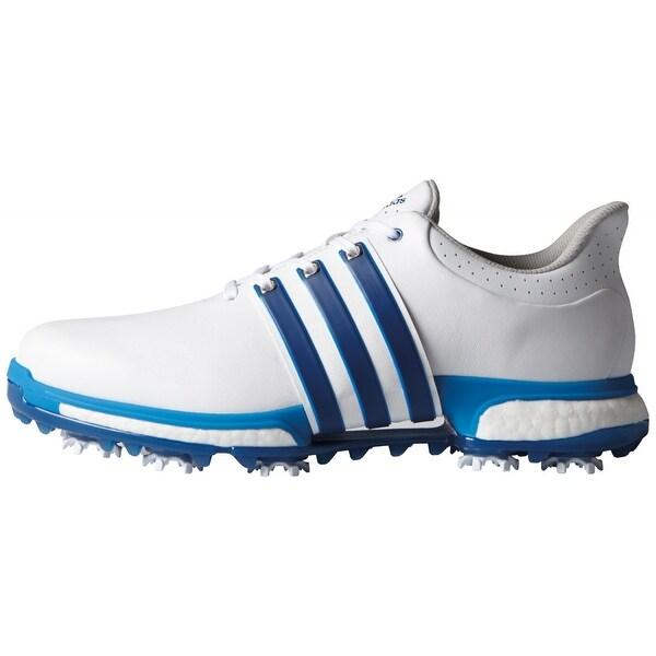 b6cd6257e0a7 Shop Adidas Men s Tour 360 Boost White Eqt.Blue Shock Blue Golf ...