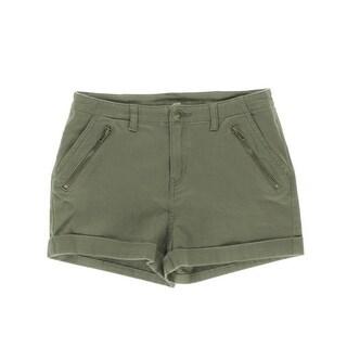 Nitrogen Womens Twill Cuffed Casual Shorts - 30