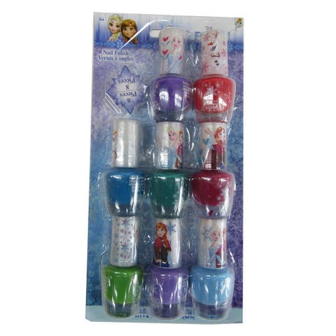 Disney Little Girls Multi Color Assorted Frozen Peal-able Nail Polish Set - One Size