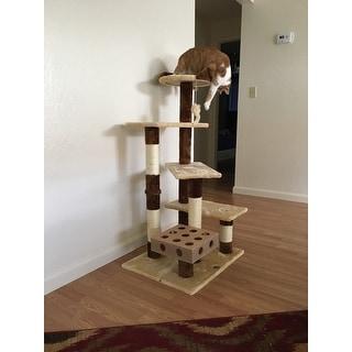 GoPetClub IQ Busy Box 45-inch Cat Tree