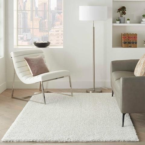 Nourison Shangri-La Solid Modern Plush Shag Area Rug