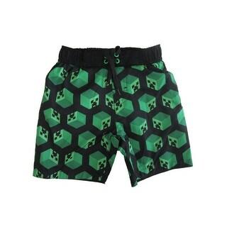 Minecraft Little Boys Black Swim Shorts