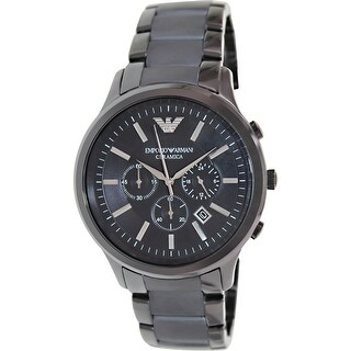 Emporio Armani Men's Ceramica Black Ceramic Quartz Fashion Watch
