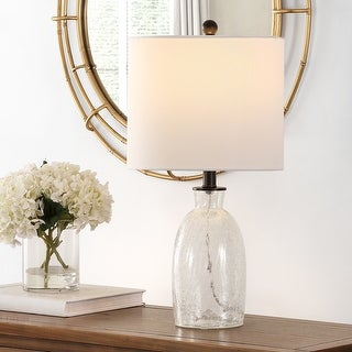 """Link to Safavieh Lighting 23-inch Nakula Glass Table Lamp - 12"""" x 12"""" x 23"""" Similar Items in Table Lamps"""